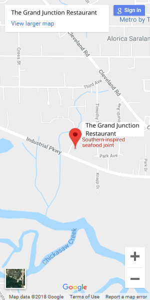 Map to the Grand Junction Restaurant